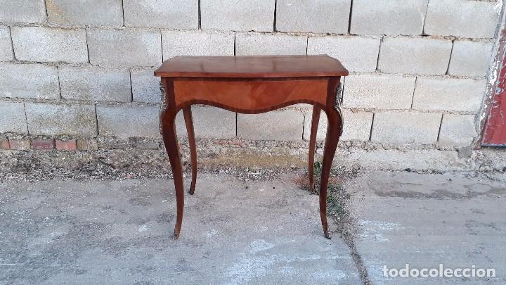 Antigüedades: Mesa auxiliar antigua estilo Luis XV, consola antigua francesa, mesita isabelina estilo isabelino - Foto 8 - 175674755
