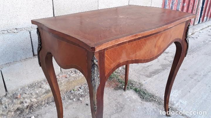 Antigüedades: Mesa auxiliar antigua estilo Luis XV, consola antigua francesa, mesita isabelina estilo isabelino - Foto 10 - 175674755