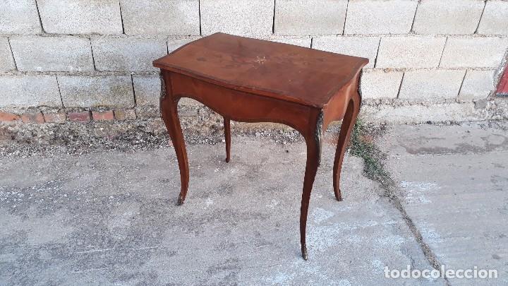 Antigüedades: Mesa auxiliar antigua estilo Luis XV, consola antigua francesa, mesita isabelina estilo isabelino - Foto 13 - 175674755