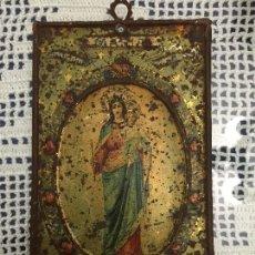 Antigüedades: PLACA DE CHAPA 16 X 10 CM, COMO SE VE EN LAS FOTOGRAFIAS.. Lote 103849479
