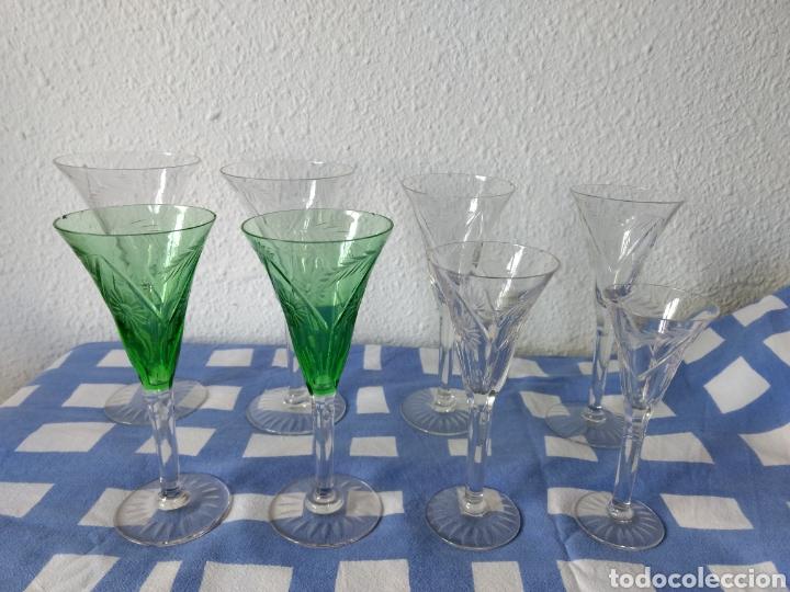 JUEGO DE 50 COPAS ANTIGUAS DE CRISTALL TALLADO (Antigüedades - Cristal y Vidrio - Bohemia)