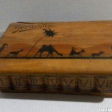 Antigüedades: CAJA DE MADERA DE OLIVO JERUSALEM. Lote 103864767