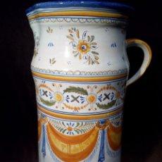 Antigüedades: GRAN JARRÓN PARAGUERO. CERÁMICA ESMALTADA A MANO 47CM. TALAVERA . ESPAÑA. Lote 103866091