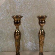 Antigüedades: PAREJA DE CANDELABROS EN PLATA MACIZA DE 925 ML DE JOYERIA SANCHEZ CORDERO. Lote 103870455