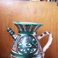 Antigüedades: JARRA DE CERÁMICA CON PITORRO DE TERUEL, MARCADA PUNTER. ALTURA: 22 CM, . Lote 103874503