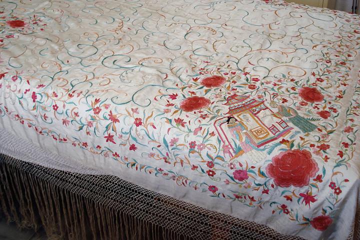 Antigüedades: Mantón de manila - Foto 7 - 54257566