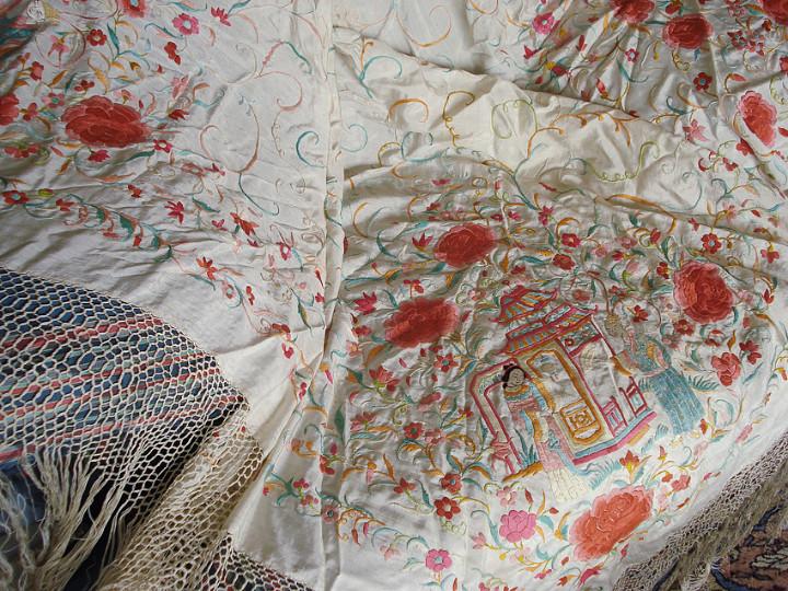 Antigüedades: Mantón de manila - Foto 2 - 54257566