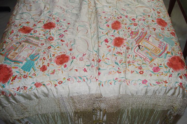 Antigüedades: Mantón de manila - Foto 3 - 54257566