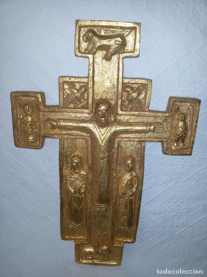 CRUZ ROMÁNICA-ARTESANÍA (Antigüedades - Religiosas - Cruces Antiguas)