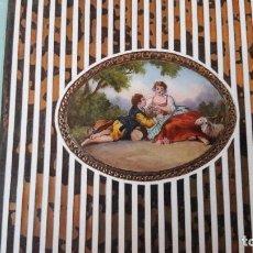 Antigüedades: CAJA DE TABACO FRANCESA CON ESMALTES MUY DELICADOS, PRINCIPIOS DEL SIGLO XX. Lote 103906227