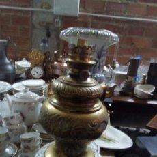 Antigüedades: ENORME QUINQUE DE BRONCE. Lote 103916671