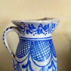 Antigüedades: ANTIGUA JARRA CERAMICA. ALTURA 21 CM. PUENTE DEL ARZOBISPO.. Lote 103917331