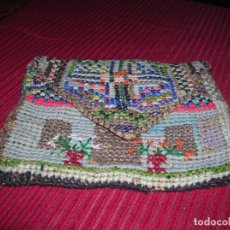 Antigüedades: MUY ANTIGUO BOLSO,MUY ORIGINAL ,BORDADO A MANO.. Lote 103921855
