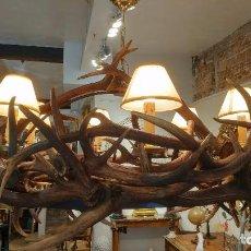 Antigüedades: LAMPARA TECHO CORNAMENTA AÑOS 50. Lote 103930495