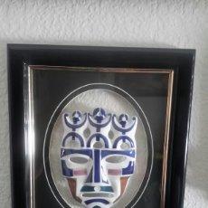 Antigüedades: MÁSCARA DE SAGARDELOS ENMARCADA. Lote 103932868