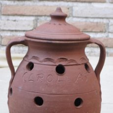 Antiquités: ORZA CON TAPA PARA CEBOLLAS, EXTINTO ALFAR DE HELIODORO JUAREZ - VALDEVERDEJA ( TOLEDO ). Lote 103933191