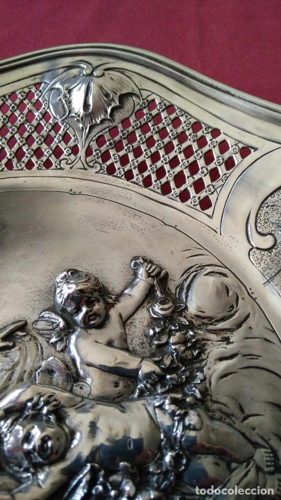 Antigüedades: BANDEJA DE PLATA MODERNISTA. PLATA 800 MILÉSIMAS. - Foto 5 - 103934255