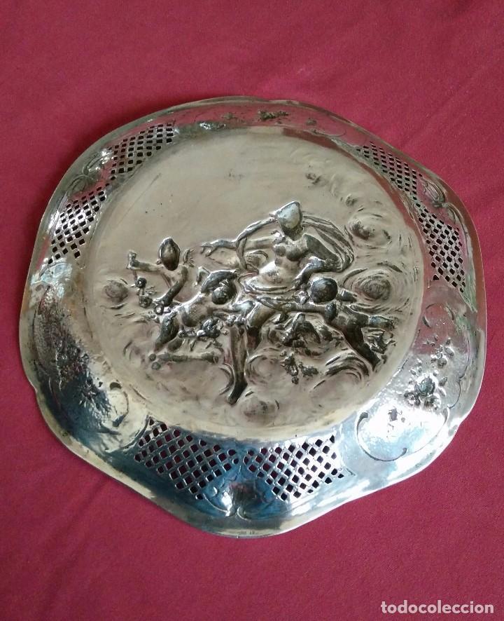 Antigüedades: BANDEJA DE PLATA MODERNISTA. PLATA 800 MILÉSIMAS. - Foto 8 - 103934255