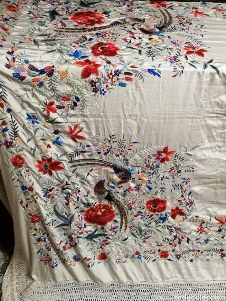 Antigüedades: Espectacular mantón antiguo de colección - Foto 2 - 103953310