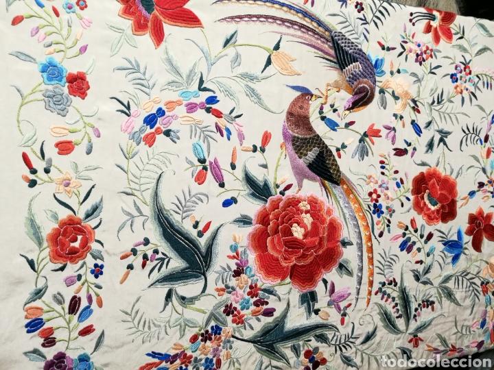 Antigüedades: Espectacular mantón antiguo de colección - Foto 3 - 103953310