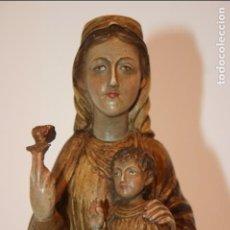 Antigüedades: SANTA MARÍA DE BEGOÑA PATRONA DE BILBAO VIZCAYA. ESCAYOLA ESTUCO. MIDE 23 X 11 CMS. BIRN CONSERVADA. Lote 103975699