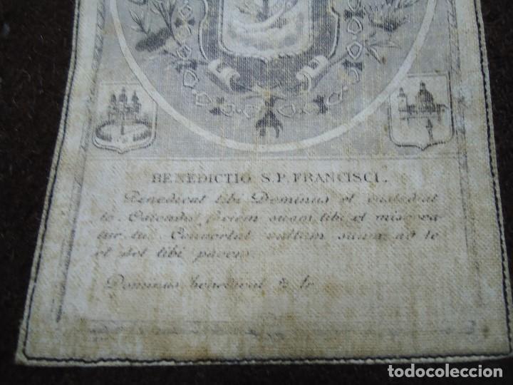 Antigüedades: MUY ANTIGUO ESCAPULARIO BENEDICTO S.P. FRANCISCI - Foto 4 - 147586858