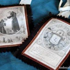 Antigüedades: BONITO ESCAPULARIO - VENERABLE ORDEN 3ª DE NSP SAN FRANCISCO - PARÍS - FRANCIA - LITURGIA RELIGIOSA. Lote 103977195
