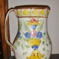 Antigüedades: BONITO JARRON DE MANISES. S.XIX. GRAN TAMAÑO 48 CM DE ALTURA.. Lote 103983123