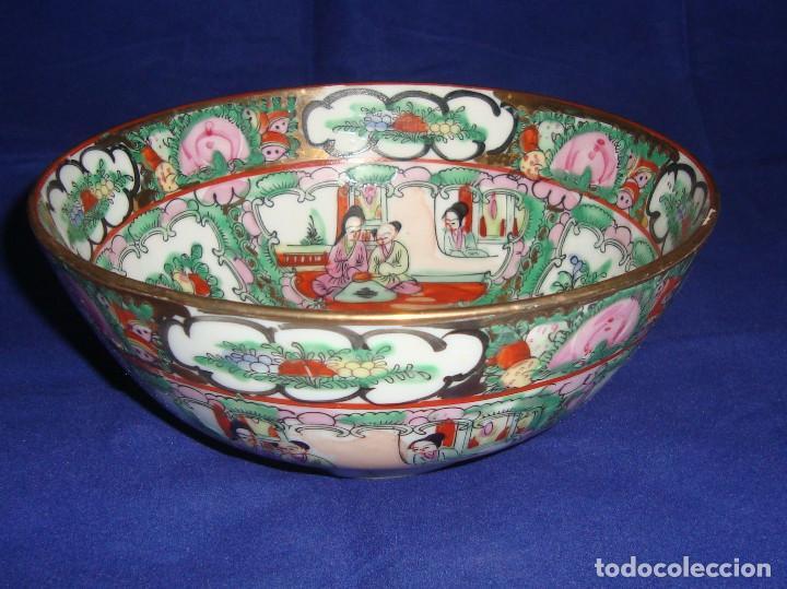 CUENCO BOL GRANDE PORCELANA DE MACAO 18CM DIAMETRO X 7CM ALTO (Antigüedades - Porcelanas y Cerámicas - China)