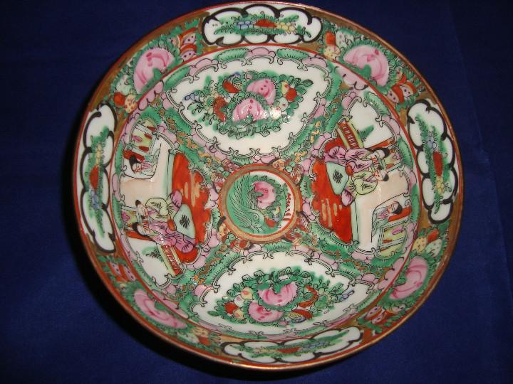 Antigüedades: CUENCO BOL GRANDE PORCELANA DE MACAO 18CM DIAMETRO X 7CM ALTO - Foto 5 - 103986235