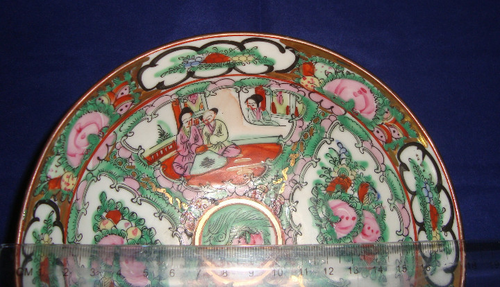 Antigüedades: CUENCO BOL GRANDE PORCELANA DE MACAO 18CM DIAMETRO X 7CM ALTO - Foto 9 - 103986235