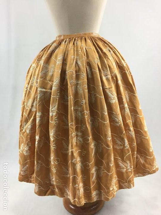 Antigüedades: Saya brocada de algodón - Foto 6 - 103986903