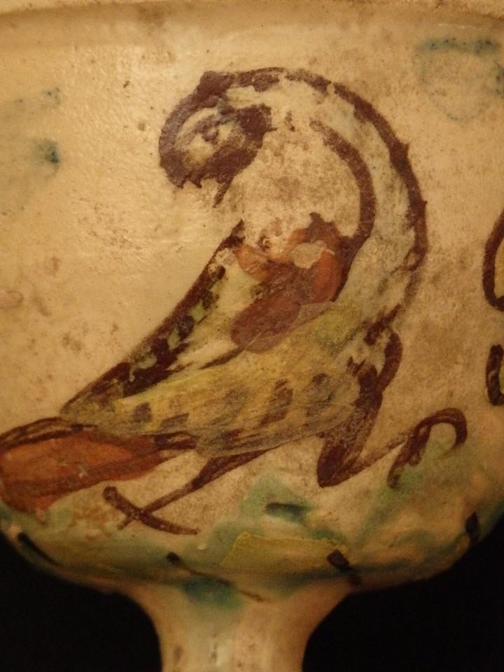 Antigüedades: Benditera en cerámica de Talavera o Puente del Arzobispo. Siglo XVII. - Foto 6 - 142787557