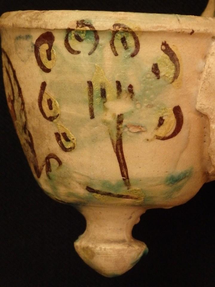 Antigüedades: Benditera en cerámica de Talavera o Puente del Arzobispo. Siglo XVII. - Foto 10 - 142787557