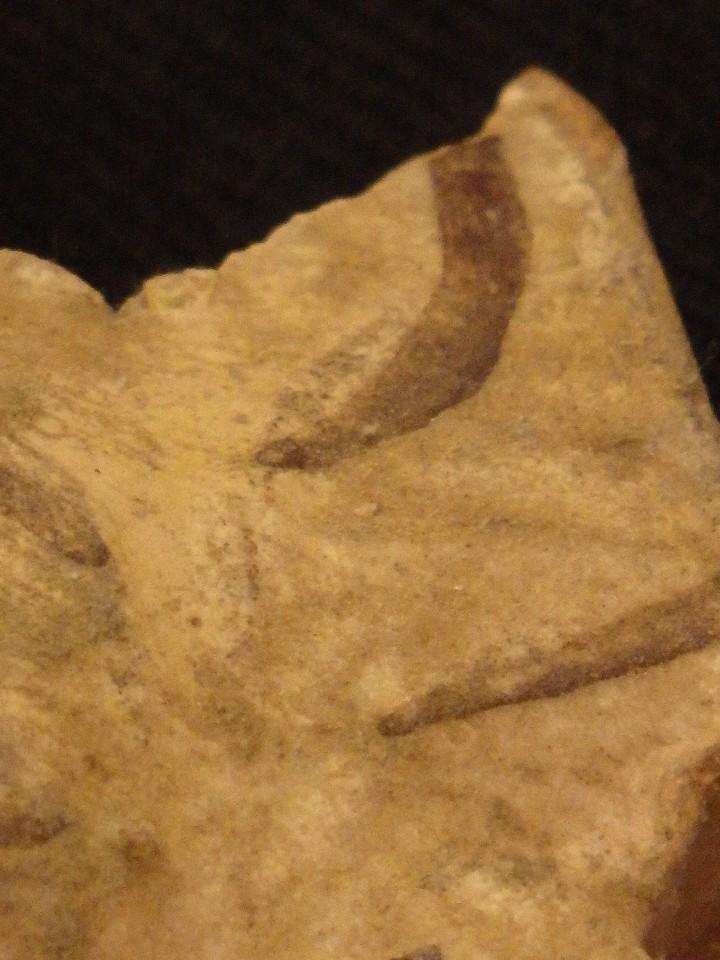 Antigüedades: Benditera en cerámica de Talavera o Puente del Arzobispo. Siglo XVII. - Foto 18 - 142787557