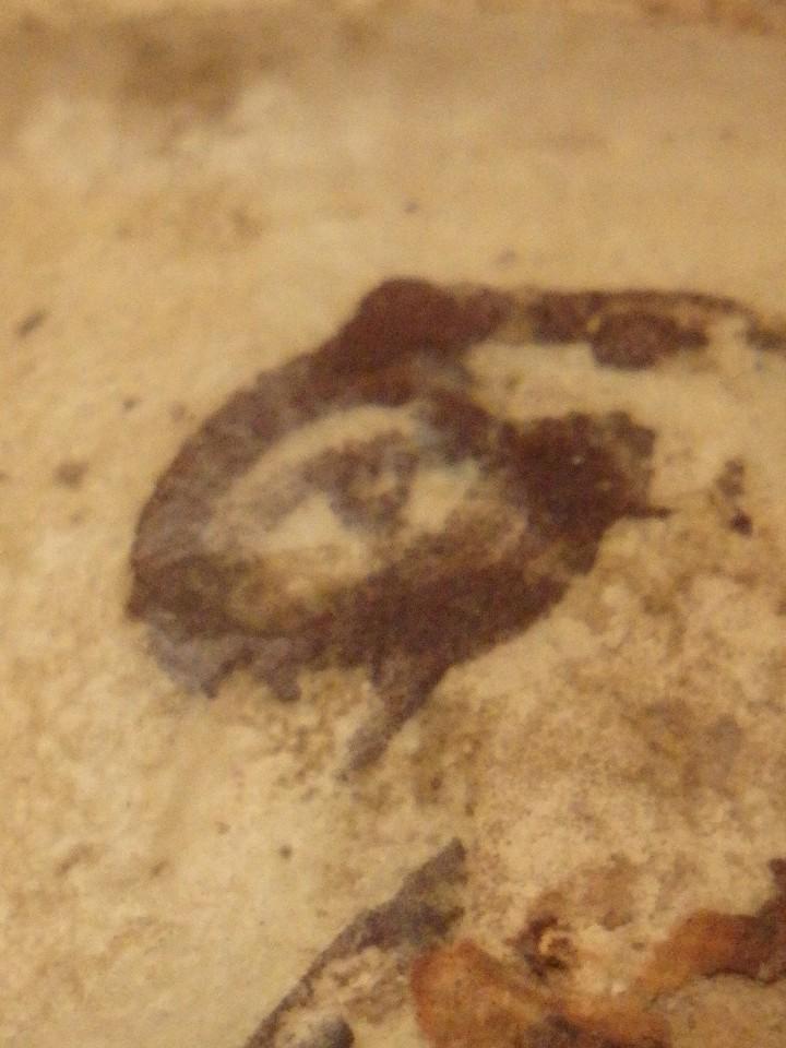 Antigüedades: Benditera en cerámica de Talavera o Puente del Arzobispo. Siglo XVII. - Foto 21 - 142787557