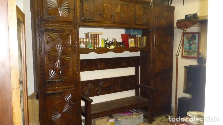 mueble madera maciza caserio vasco con banco - Comprar Armarios ...