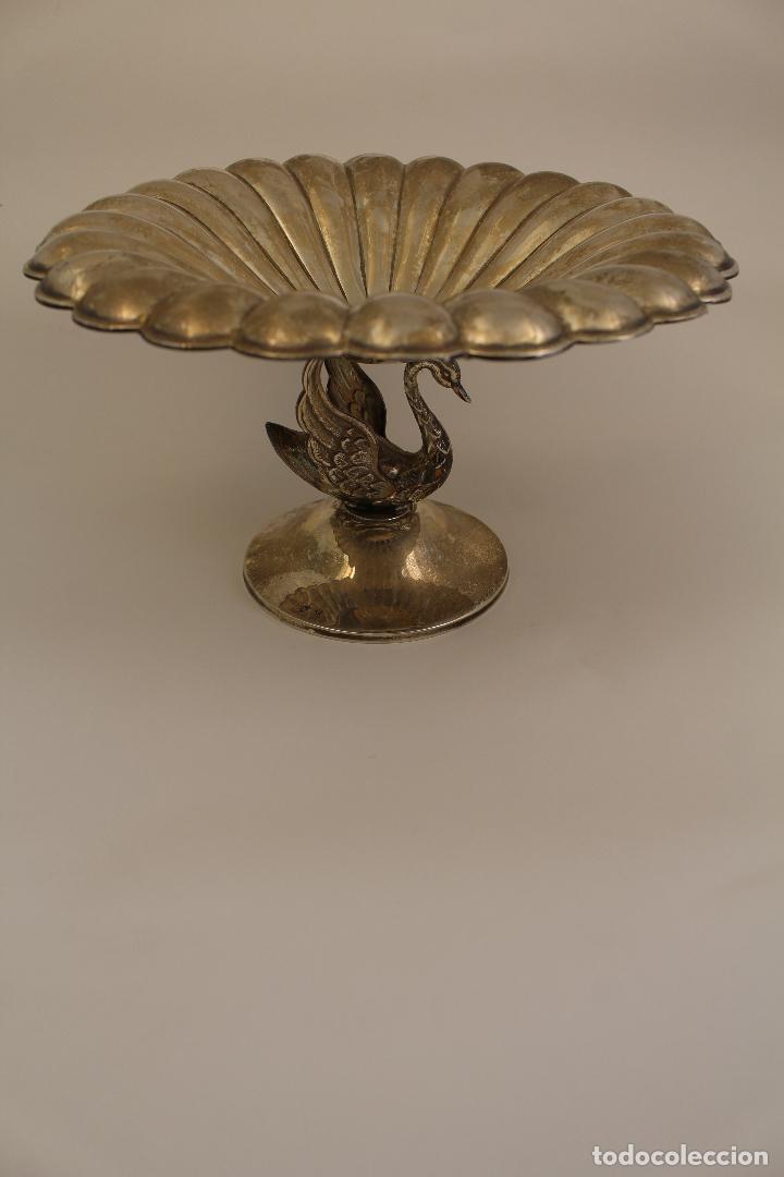 Antigüedades: centro de mesa, frutero en plata maciza de ley 925milesimas - Foto 2 - 117599560