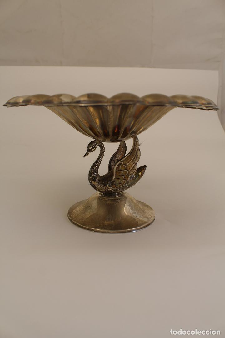 Antigüedades: centro de mesa, frutero en plata maciza de ley 925milesimas - Foto 3 - 117599560