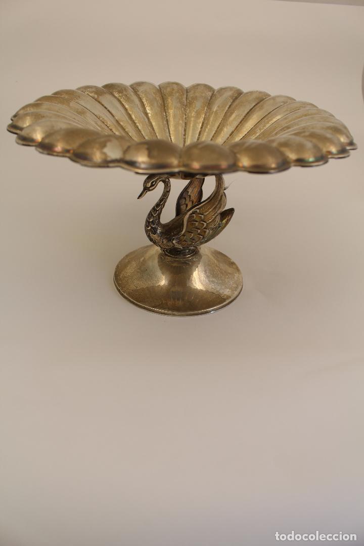 Antigüedades: centro de mesa, frutero en plata maciza de ley 925milesimas - Foto 4 - 117599560