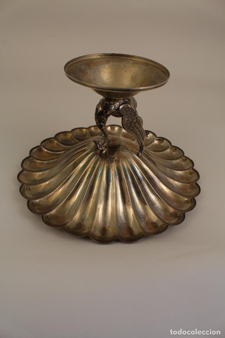 Antigüedades: centro de mesa, frutero en plata maciza de ley 925milesimas - Foto 5 - 117599560
