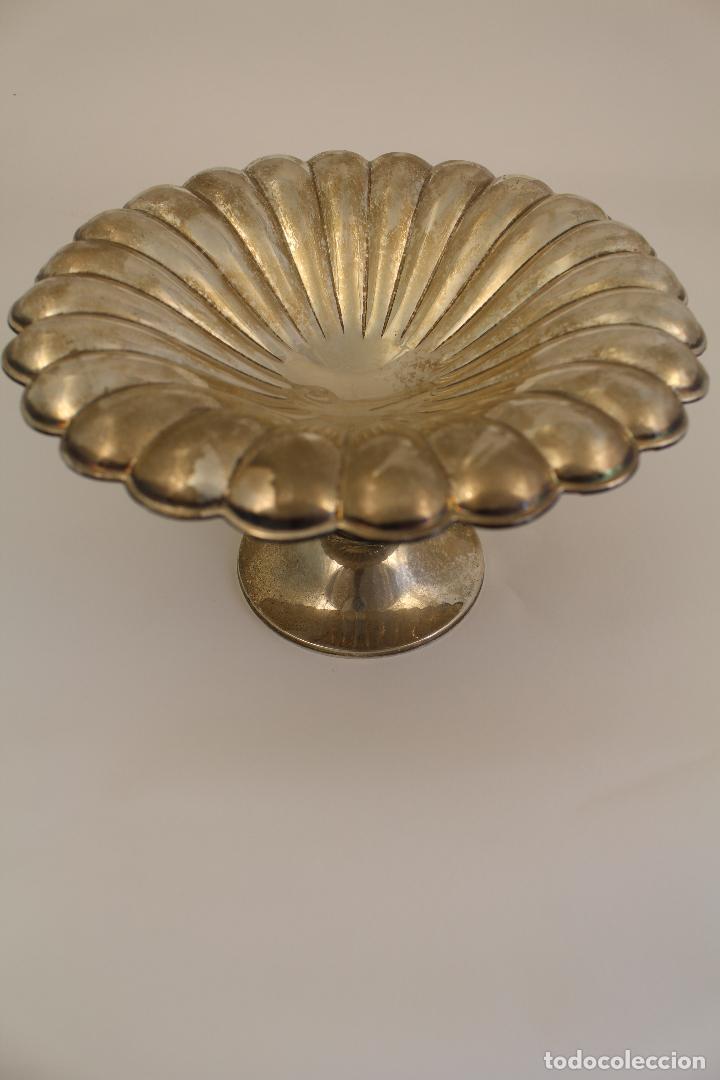 Antigüedades: centro de mesa, frutero en plata maciza de ley 925milesimas - Foto 7 - 117599560