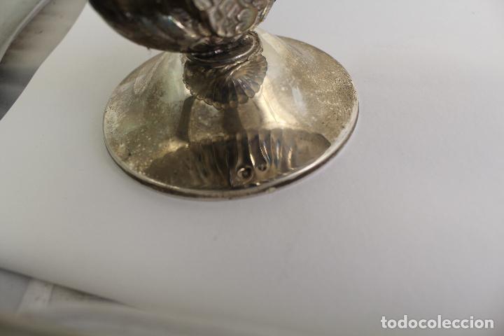Antigüedades: centro de mesa, frutero en plata maciza de ley 925milesimas - Foto 9 - 117599560