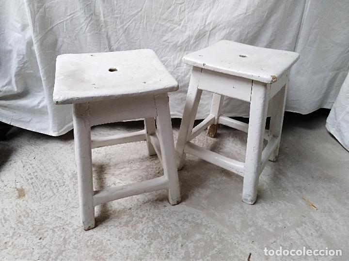 Pareja de taburetes rusticos para decapar vendido en venta directa 104014883 - Decapar muebles antiguos ...
