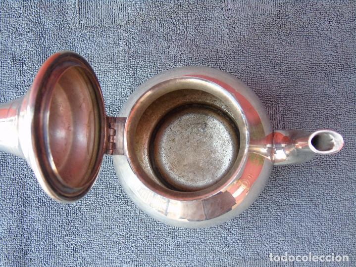 Antigüedades: ANTIGUA TETERA PLATEADA. - Foto 6 - 104015495