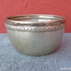 Antigüedades: ANTIGUO CUENCO PLATEADO. CON SELLO.. Lote 104017707