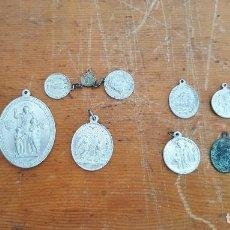 Antigüedades: LOTE 14 MEDALLAS RELIGIOSAS ANTIGUAS. DIFERENTES MEDIDAS Y ÉPOCAS. TOP!!!! MEDALLAS DE COLECCIÓN.. Lote 104031651