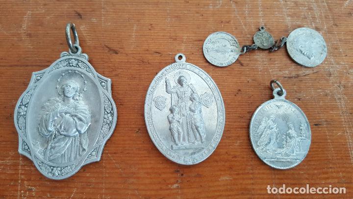 Antigüedades: Lote 14 medallas religiosas antiguas. Diferentes medidas y épocas. TOP!!!! Medallas de colección. - Foto 3 - 104031651