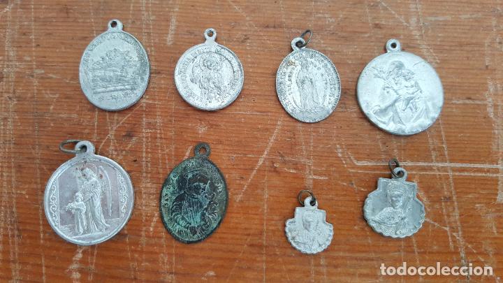 Antigüedades: Lote 14 medallas religiosas antiguas. Diferentes medidas y épocas. TOP!!!! Medallas de colección. - Foto 5 - 104031651
