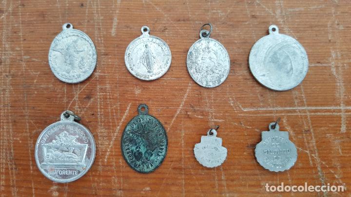 Antigüedades: Lote 14 medallas religiosas antiguas. Diferentes medidas y épocas. TOP!!!! Medallas de colección. - Foto 6 - 104031651